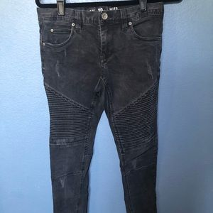 Other - Black moto skinny jeans
